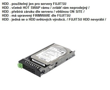 """FUJITSU HDD SRV SAS 6G 300GB 15k H-P 2.5"""" EP - TX1330 2540 TX300S8/7/6 RX100S7 RX200S8/7 RX300S8/7 TX2540M1"""