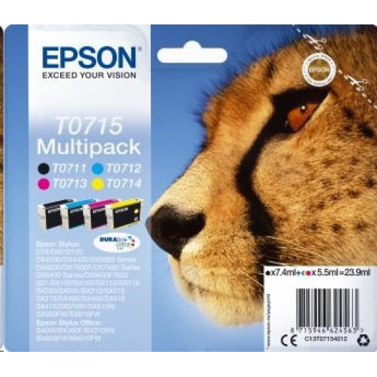 EPSON ink Multipack 4-colours T0715 DURABrite Ultra Ink