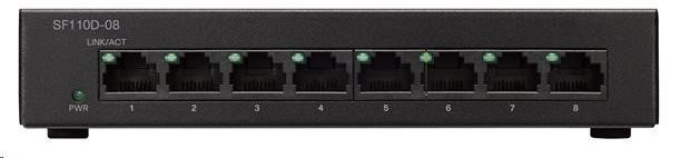Cisco switch SF110D-08, 8x10/100