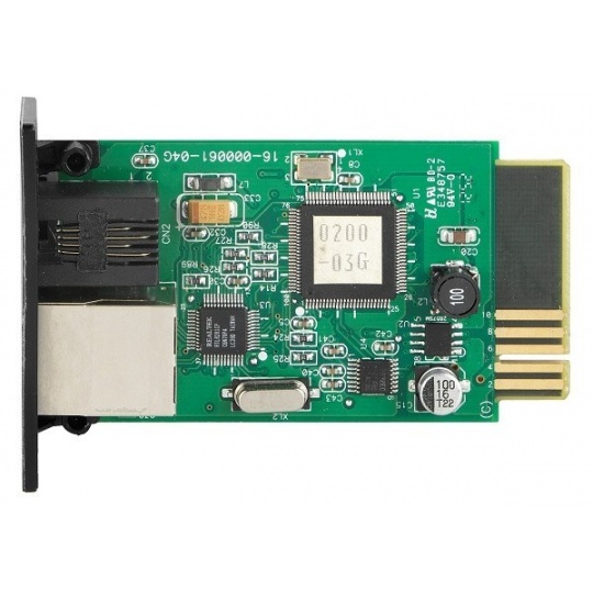 Fortron SNMP card for UPS Galleon, Knight, Champ, Custos; 1xLAN + 1xEMD port